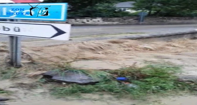 Göbü Köyünde yaşanan sel taşkınının görüntüleri ortaya çıktı (Görüntülü)