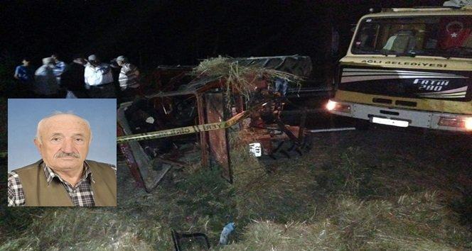 Hayvan yüklü kamyon ile traktör çarpıştı: 1 ölü, 2 yaralı