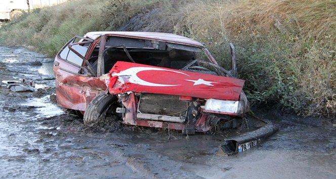 iki otomobil çarpıştı 7 yaralı