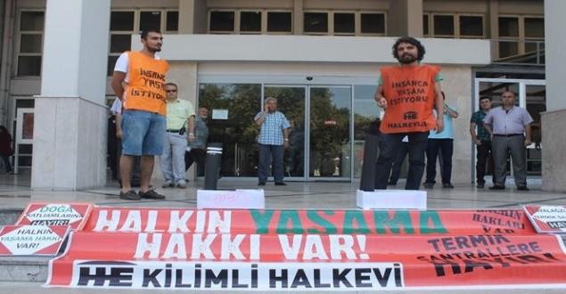 ÇATALAĞZI'NDA TERMİK SANTRAL PROTESTOSU