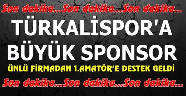Ünlü firmadan Türkalispor'a forma sponsoru…