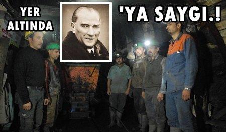 Madenciler ATA'yı Yer'in 500 Metre Altında Andı.! (Görüntülü)