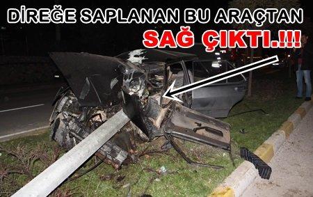 İnanılmaz Kaza.! İşte Bu Araçtan Sağ Çıktı