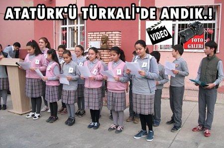 Türkali'de Atatürk 76. Yılında Törenlerle Anıldı (Görüntülü)