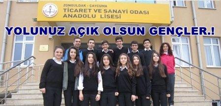 Çaycuma TSO Anadolu Lisesi Şampiyonluğa Koşuyor