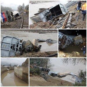 Hes Kanalının Patlaması Sonrası Irmağa Devrilen Yük Trenini Kurtarma Çalışmaları Başladı