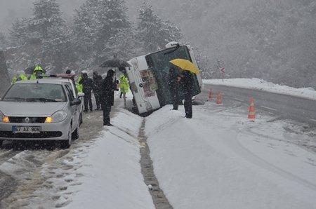 Zonguldak ve Çevresinde Kar ve Kazalar İzleyin