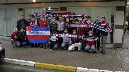 İstanbul'da Zonguldakspor'u Destekliyorlar