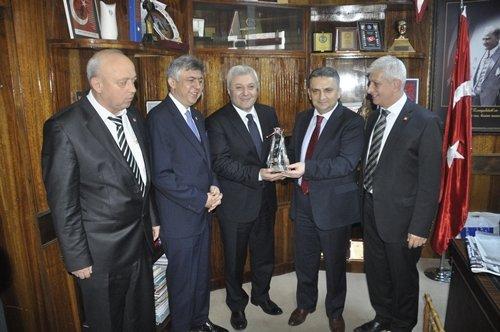 CHP PM Üyesi Özkan'dan Genel Maden İşçileri Sendikası Başkanına Ziyaret