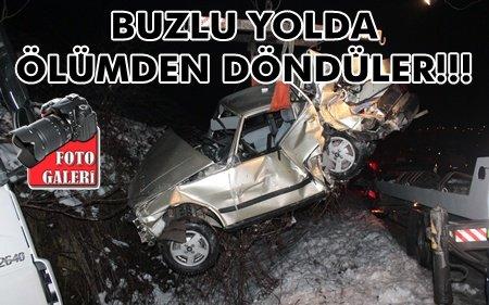 Buzlu Yolda Zincirleme Kaza; 5 Yaralı