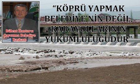 """ÇAYCUMA BELEDİYE BAŞKANINDAN """"KÖPRÜ KARARI"""" AÇIKLAMASI (GÖRÜNTÜLÜ)"""