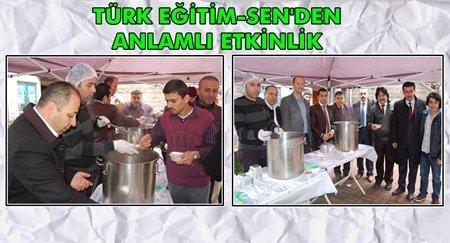 Türk Eğitim-Sen Çanakkale Anısına Çorba Dağıttı (Görüntülü)