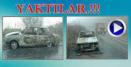 Otomobil Yanmış Halde Bulundu (Görüntülü)