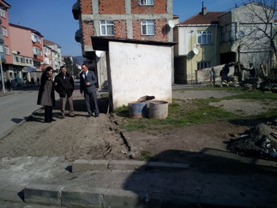 SALTUKOVA'DA İÇME SUYUNA PEYZAŞ ÇALIŞMASI YAPILDI