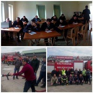 Saltukova Havalimanın'da ARFF Eğitim Semineri Verildi
