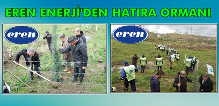 Çaycuma'ya Eren Enerji'den Hatıra Ormanı
