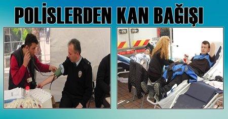 Bir Bağışta Polislerden