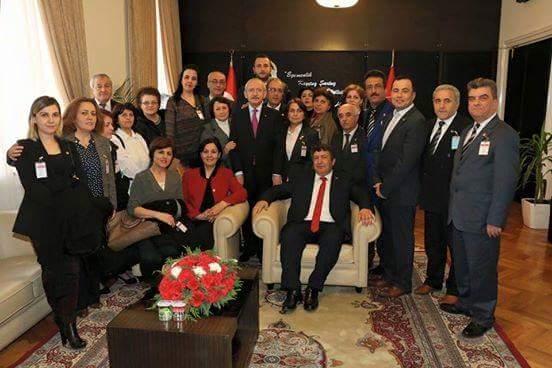Başkan Güneş CHP Genel Başkanı Kılıçdaroğlu'nu ziyaret etti