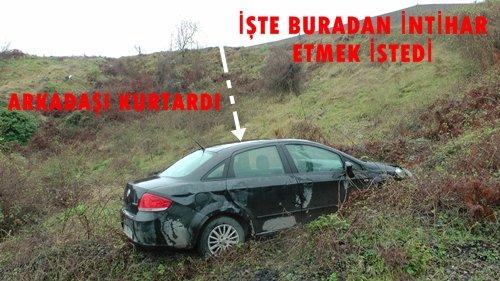 Türkali'ye Gelen Şahıs Otomobili İle İntihar Etmek İstedi (Görüntülü)