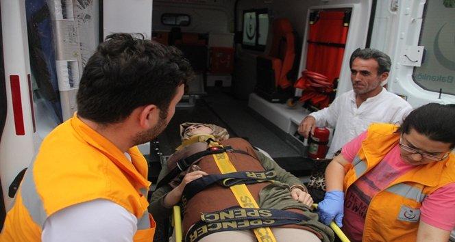 Zonguldak'ta karşıdan karşıya geçmeye çalışan genç kıza otomobil çarptı