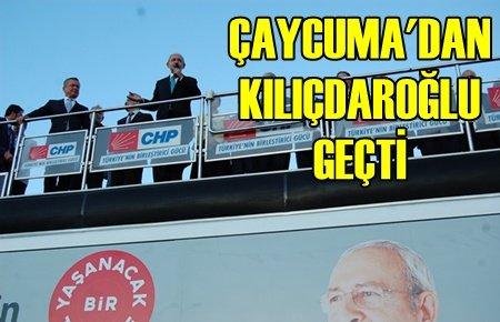 Çaycuma'da Kılıçdaroğlu Rüzgarı (Görüntülü)