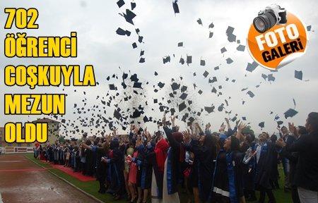 BEÜ'de 702 Öğrenci Kep Fırlattı (Görüntülü)