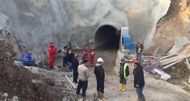 HES inşaatı tünelinde göçük