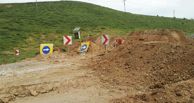 Ölüm yolu DSİ tarafından trafiğe kapatıldı