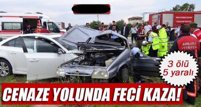 Cenaze yolunda feci kaza! 3 ölü, 5 yaralı
