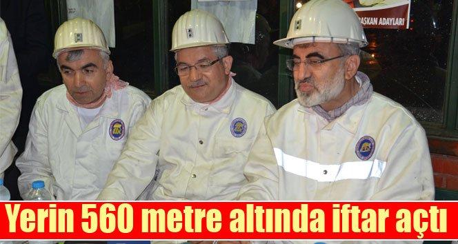 Enerji Bakanı Yıldız, ilk iftarını maden ocağında yaptı