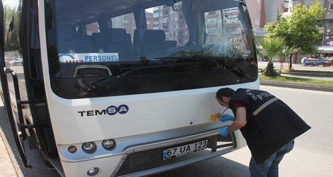 Zonguldak'ta gece yarısı TIR ve otobüslerin camları kırıldı