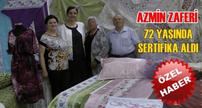 (Özel haber) Azmin zaferi 72 Yaşında Dikiş Nakış Kursunu başarı İle Bitirdi (Görüntülü)