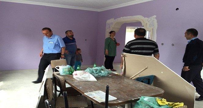 Saltukova'da bulunan köy konağının restorasyonuna başlandı