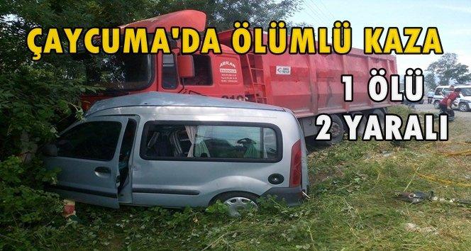 Son DaKika: Çaycuma'da Trafik Kazası; 1 Ölü, 2 Yaralı (Görüntülü)