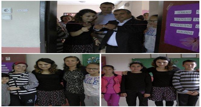 Türkali Ortaokulun'da atık malzemeleri dönüştürme projesi'nin sergi açılışı yapıldı (Görüntülü)