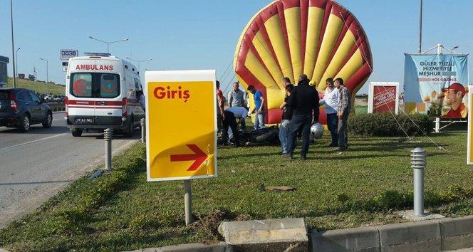 Benzinliğin reklam balonu hayat kurtardı