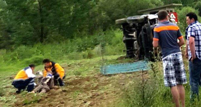 Cenazeye giderken kaza yaptılar: 1 ölü, 7 yaralı