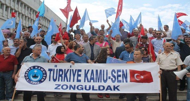 TÜRKİYE KAMU-SEN ÇİN ZULMÜ'NÜ PROTESTO ETTİ