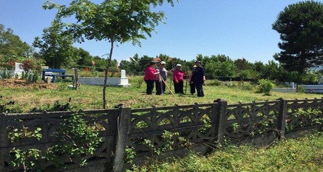 Saltukova'da mezarlıkların temizliğine başlandı