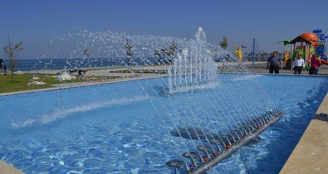 Alaplı Sahil Parkına Süs Havuzu Yapıldı