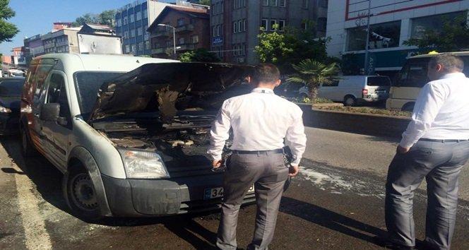 Zırhlı Araçta Çıkan Yangın Paniğe Neden Oldu