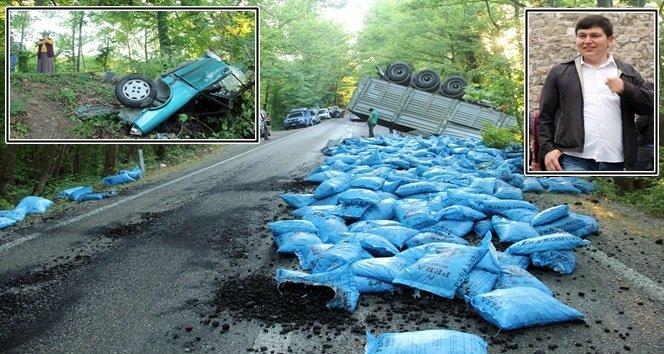 TIR İle Otomobil Çarpıştı: 1 Ölü 2 Yaralı