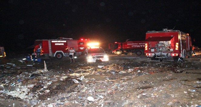 Çöp Depolama Alanındaki Yangına 7 saattir Müdahale ediliyor