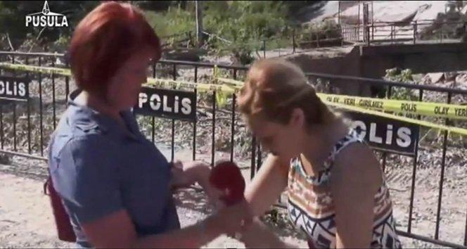 Muhabiri Canlı yayında Sıcak Hava Çarptı