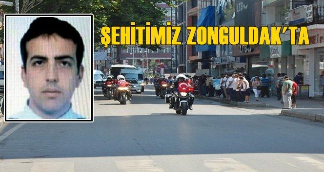 Şehit Polis Zonguldak'a Getirildi (Görüntülü)