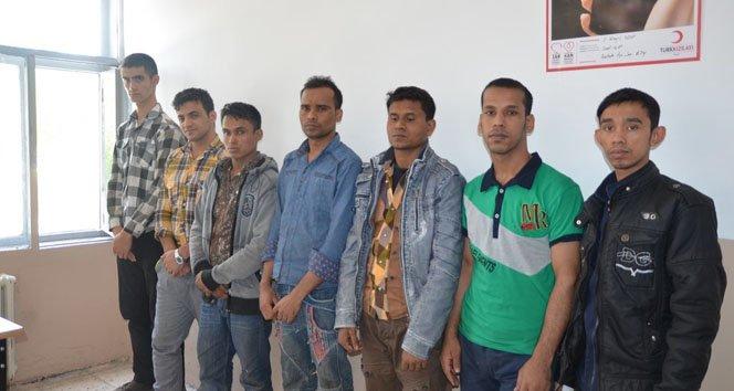 7 kaçak yakalandı
