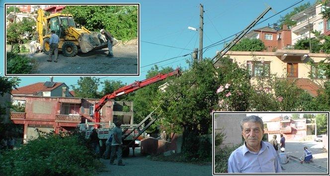Türkali'de Elektrik Direkleri Yenileme Çalışmaları (Görüntülü)