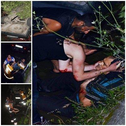 Son dakika; Zonguldak'ta Otomobil dereye uçtu, baba ve oğlu ağır yaralandı