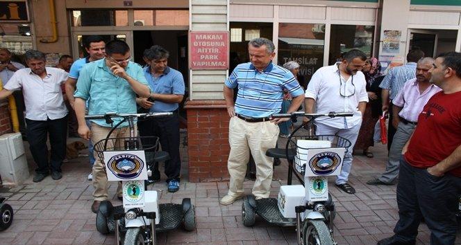 Çaycuma Belediyesi Zabıta Müdürlüğü'ne dört adet üç tekerlekli elektrikli bisiklet