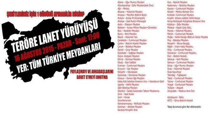 Türkiye Şehitler İçin Sokağa Çıkıyor.!